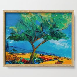 Lonely Olive Tree Serving Tray