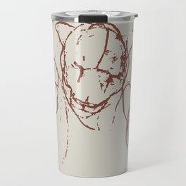 The defeat of the three lion brothers safari wildlife print minimal sketchy artwork Travel Mug