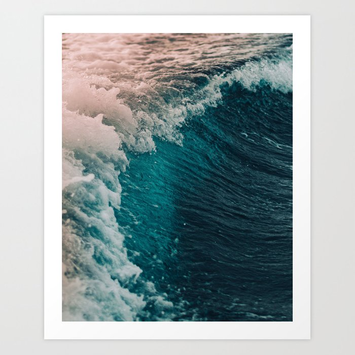 Spain Waves Art Print