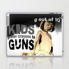 KIDS prefer crayons - black version Laptop & iPad Skin