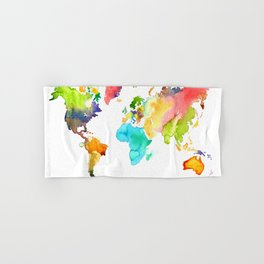 Watercolor World Hand & Bath Towel