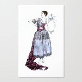 Evening Dress 1915 Canvas Print