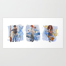 The Golden Trio Art Print