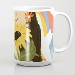 Sunflowers In Your Face Coffee Mug