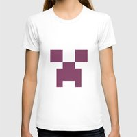 girly T-shirts featuring Girly creeper by lilacattack