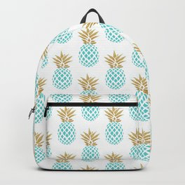 Elegant faux gold pineapple pattern Backpack