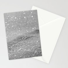 Glitter Silver Stationery Cards