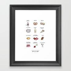 Foods of The Office Framed Art Print