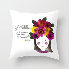 I'm a Girl Throw Pillow