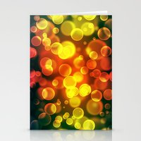 bokeh Stationery Cards featuring bokeh by davidmichel