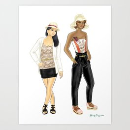 Fashion Journal: Day 10 Art Print