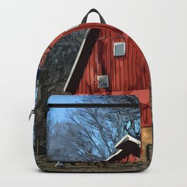 The Bright Red Barn Backpack