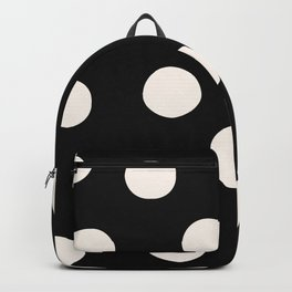 Black & White Random Polka Dots Backpack