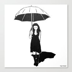 Umbrella girl Canvas Print
