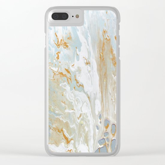 Gold and shine Clear iPhone Case