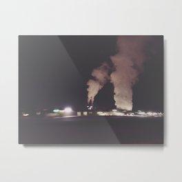 Industrial Fog Metal Print