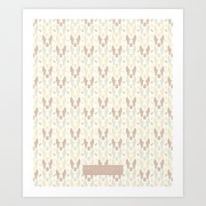 Boston Terrier Wood Pattern Art Print