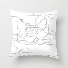 Seoul Subway Throw Pillow