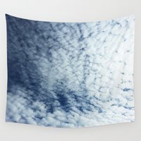 neverland Wall Tapestries featuring Neverland Clouds by GIZIBE