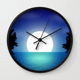 Fantasy night landscape Wall Clock