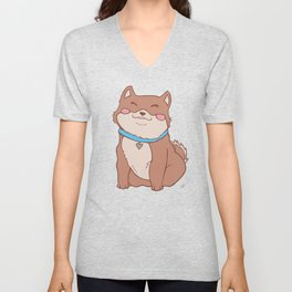 Poofers the Shiba Inu Puppy Unisex V-Neck