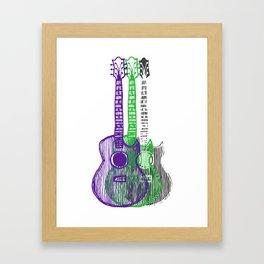 Guitars Two Framed Art Print