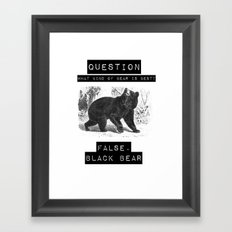 false. black bear Framed Art Print