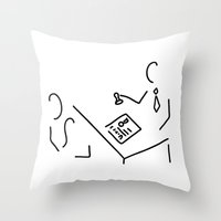 lawyer Throw Pillows featuring notary public lawyer by Lineamentum