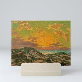 Sunset amid the Dunes by Granville Redmond Mini Art Print
