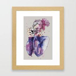 Selfie by carographic Framed Art Print