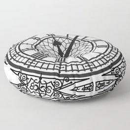 Big Ben, Clock Face, Intricate Vintage Timepiece Watch Floor Pillow