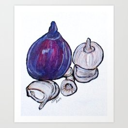Onion And Garlic Art Print