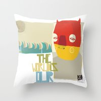 heroes Throw Pillows featuring heroes by smaomao