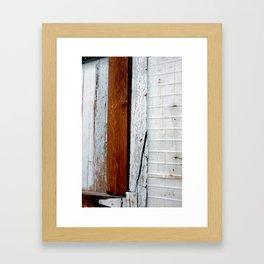 Rust and Wood Framed Art Print