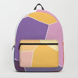 Colored Tiles Blocks Pattern Backpack