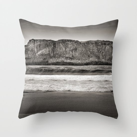 Andrin beach Throw Pillow