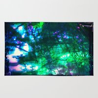 goth Area & Throw Rugs featuring Wildflowers Goth Abstract by minx267