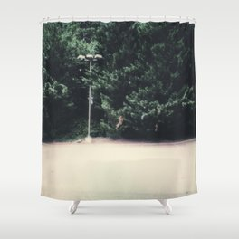 trees around lot Shower Curtain