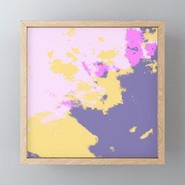 Bleida - Abstract Colorful Bohemian Batik Camouflage Tie Dye Style Art Framed Mini Art Print