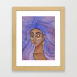 Queen of the Night Sky Framed Art Print