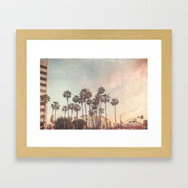 Downtown Hollywod Texture Framed Art Print