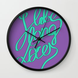 Laces Girly Wall Clock