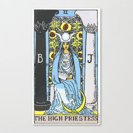 02 - 	The High Priestess Canvas Print