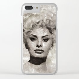 Sophia Loren by MB Clear iPhone Case