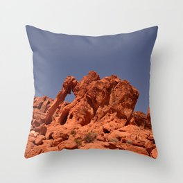 Elephant Rock, Valley of Fire Throw Pillow