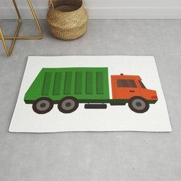 garbage truck Rug
