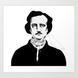 Persistence of Poe Art Print