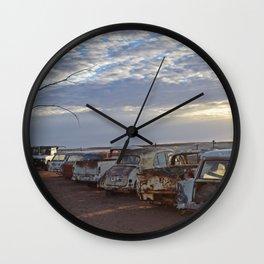 Andamooka Old Cars Wall Clock