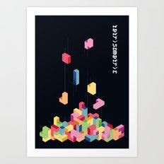 Tetrisometric Art Print