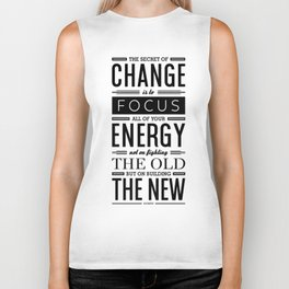 Lab No. 4 The Secret Of Change Socrates Life Motivational Quote Biker Tank
